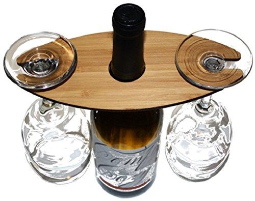 Holz Wein Caddy-Zwei Glas Formaldehyd frei mahagoni -