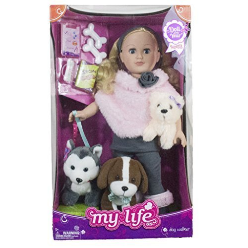 My Life As 18 inch Doll of the Year Dogwalker Blonde - Walmart Exclusive by myLife Brand Products