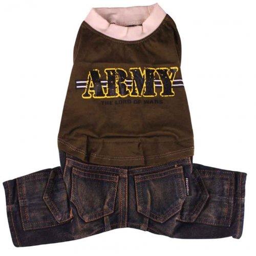 Doggydolly Jeans Hundekombi Army