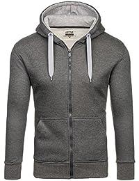 BOLF Herren Kapuzenpullover Sweatjacke Sweatshirt Hoodie Pullover Mix 1A1 Pulli