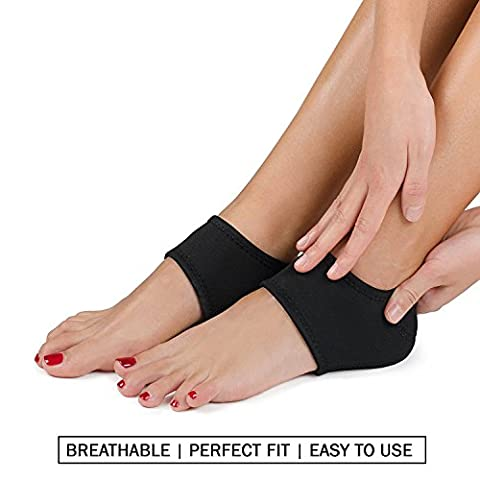 Plantar Fasciitis Foot Arch Support Wrap By Mello - Graduated Pressure Technology That Relieves From Pain, Prevents Fatigue, Aids Quick Muscle Recovery - Premium Quality, Breathable Material (M)