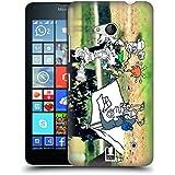 Head Case Designs Acampada Fotos De Aventura Garabateadas Caso Duro Trasero para Microsoft Lumia 640 / Dual SIM