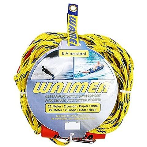 Schreuders Sport Unisex Waimea Polyethylene Drag Rope Tow-Line for Water Sports, Yellow/Cobalt Blue, One Size