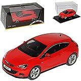 Opel Astra GTC J Ab 2009 Coupe Rot 1/43 Ist Ixo Modell Auto mit individiuellem Wunschkennzeichen