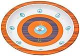 Lässig Dish Plate Melamin Teller aus 100% Melamin BPA-frei und rutschfest, Wildlife Birdie