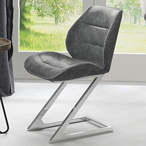 Xiaolin Chaise créative Minimaliste Moderne d'ordinateur Chaise de Jeu personnalisée chaises élégantes de Bureau et chaises dinant des chaises (Couleur : Gray-1)