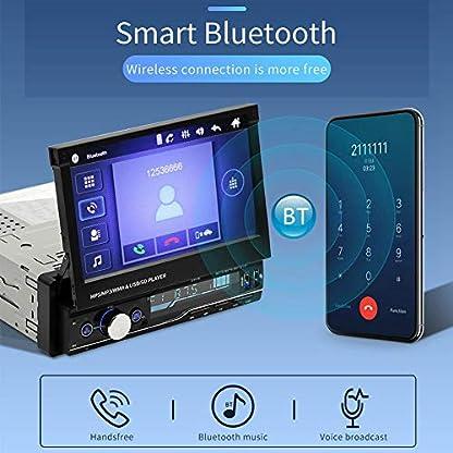 Hakeeta-TDA7388-Autoradio-7-Touchscreen-Bildschirm-Ausfahrbar-GPS-Navigation-Lenkradsteuerung-Bluetooth-Freisprecheinrichtung-RDS-USB-AUX-Kompatibel-mit-Android