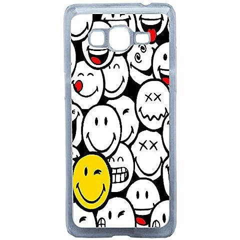 Aux Prix Canons - Etui housse coque humour Smiley Emoticone Samsung Galaxy J3 2016