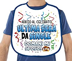 Idea Regalo - dor BAVAGLIONE ADDIO AL CELIBATO Ultima Sera da Single Gadget stampato idea regalo festa