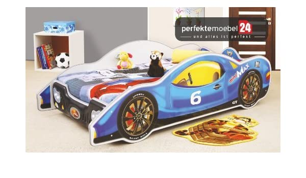 f4e7e32323ec14 Perfekte Möbel 24 Mini Max Bed Car Bed Child s Play Bed with Slatted Base  and Mattress 1 - 2 Days