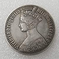 YunBest Antique United Kingdom Old Coins - British Old Coin-UK Coin - UK Uncirculated Queen Victoria Commemorative Coins-Great Discover History of Coins BestShop