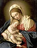 Giovanni Battista Salvi – The Madonna and Child Fine Art Print (27.94 x 35.56 cm)