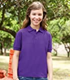 Fruit of the Loom Kinder Pique Polo Shirt royal 5–6