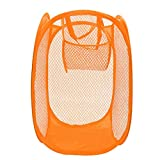 EgBert KCASA KC-0916 Maille Pop up Panier à Linge Pliable Corbeille à Linge vêtements ménagers Organisateur - Orange