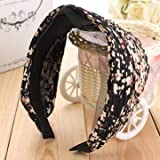 #2: Generic Women's Wide Pleated Floral Headband-Color1