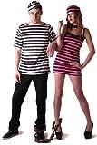 Disfraz de pareja de prisioneros -