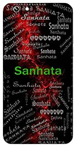 Sanhata (Conciseness) Name & Sign Printed All over customize & Personalized!! Protective back cover for your Smart Phone : One Plus One ( 1+1 )
