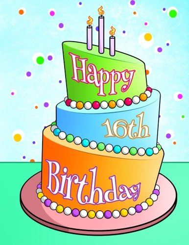 Happy 16th Birthday Journal Notebook Diary 105 Lined Pages Gifts