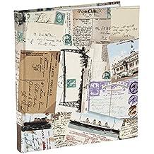 vo1474si viajes lienzo álbum para 140fotografías 5x 7(13x 18cm) álbum de fotos con páginas de papel con compartimentos de fotos de dos secciones en cada página. Polipropileno fundas protectoras.