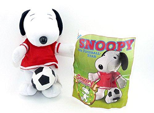 Snoopy als Fußballer (Plüschfigur aus dem Maxi Ei)