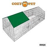 Cozy Pet Enclos Lapin Métal Extérieur Parcavec pare-soleil 8 tailles disponibles Parc/cage pour cochon d'Inde, lapin, poulet, furet, chiot Talle 180cm