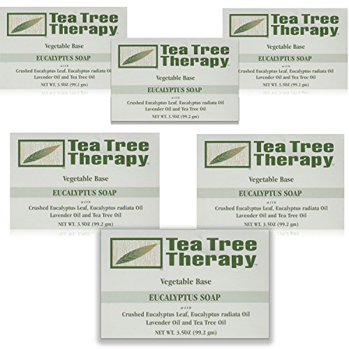 Tea Tree Therapy Vegetable Base Bar Soap, Eucalyptus, 6 Count by Tea Tree Therapy