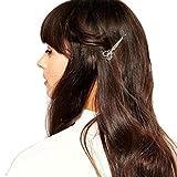 Goosun Haarspange Schere Gestalten Haar Clip Haar Zubehör In Golden Mit Silber Haarschmuck Haarklammer Klammer Spange Kopfschmuck Pferdeschwanz Headband Für Kinder, Mädchen Und Damen (1 Stück, Silber)