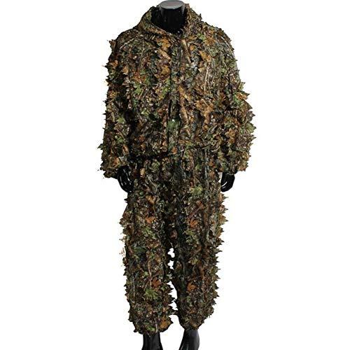 Erwachsene 3D Blätter Woodland Camouflage Kleidung Tops Hosen Jacke Wildlife Fotografie Jagd Kleidung Halloween Free Size