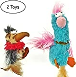 2 x Cat Toys with CATNIP by Mishi - 2 Pack Dippy Dodos - Birds With Feather Tails - Interactive Pet Chew Toys for Kittens and Adult Cats - Fun for Both Outdoor and Indoor Cats