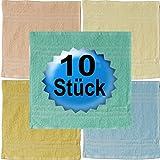 10er Pack Seiftücher Waschlappen Seiflappen 30x30 Frottier uni Walk
