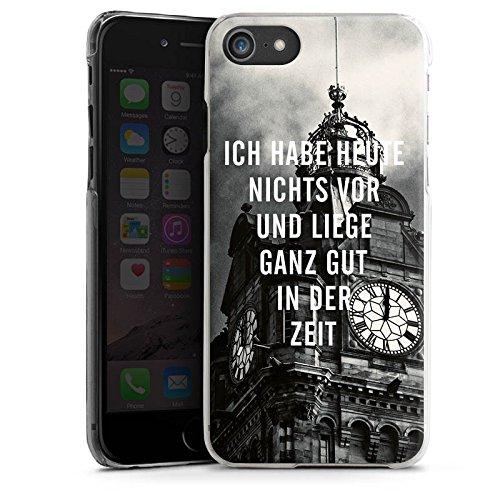 Apple iPhone X Silikon Hülle Case Schutzhülle Zeit Sprüche Faulheit Hard Case transparent