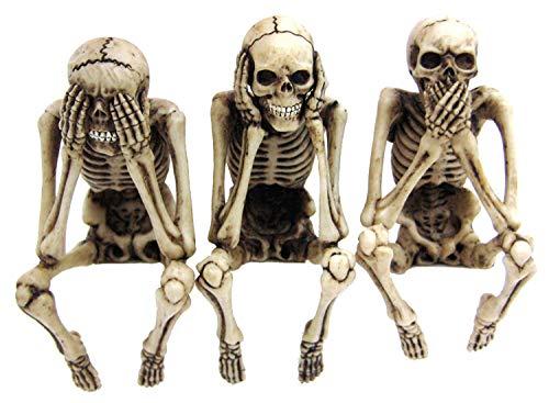 Skelett Kantenhocker - 3er Set - Figur Fantasy Deko (Lustige Affen-figuren)
