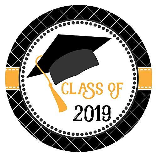 Adorebynat Party Decorations - EU Abschluss-Kappen-Klasse von 2019 Aufklebern Etiketten - Hochschule Universität Ausbildung Abschluss-Party - Set 30