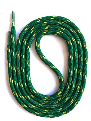 SNORS - Schnürsenkel - SICHERHEITSSENKEL Dunkelgrün/Oliv 200cm, ca. 5mm - RUNDSENKEL für Arbeitsschuhe, Wanderschuhe, Trekkingschuhe