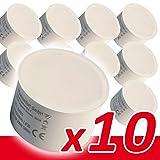 10x LED Modul 230V 6W für Einbaustrahler warmweiß Ersatz GU10 MR16 Ø 50mm Einbauramen Leuchtmittel