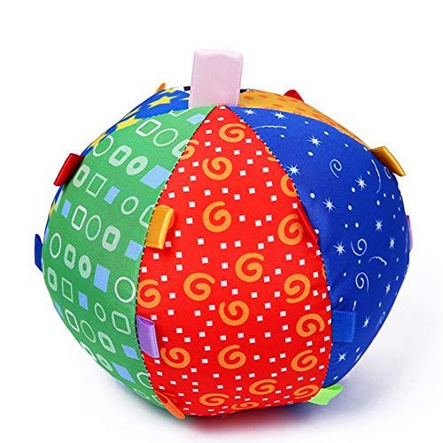Bunte Kinder-Bell-Ring-Kugel-Durable-Tuch-Ring-Kugel-Plüsch-Crawl-Spielzeug-Baby-frühe pädagogische Spielwaren