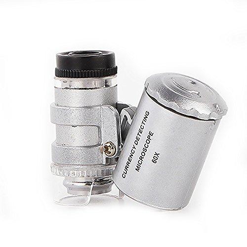 Mikroskop Lupe Mikroskop 60x Magnifier Jeweler LED UV Licht batteriebetrieben Monokular -