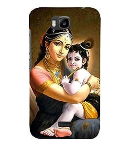 Fiobs Designer Phone Back Case Cover Huawei Honor Bee :: Huawei Honor Bee Y5c ( Lord Krishna With Mother Kanaya )