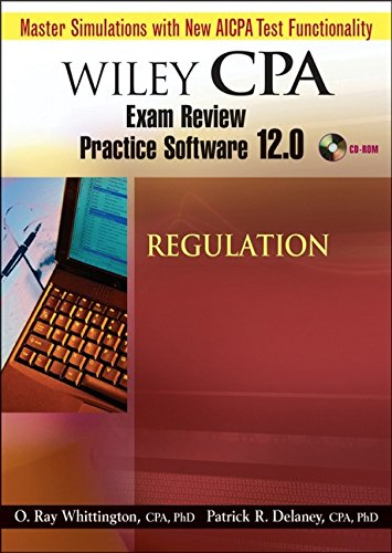 Wiley CPA Examination Review Practice Software 12.0. Regulation. CD-ROM ab Windows 2000/XP.