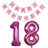 18 Geburtstag, 18 Geburtstag Mädchen, Luftballon 18 Geburtstag, 18 Geburtstag Frau, Happy Birthday 18, Geburtstagsdeko 18, Folienballon 18, Dekoration 18, Heliumballons 18, zum 18 Geburtstag Mädchen