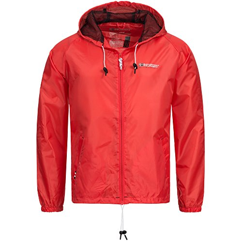 12B3 Geographical Norway Herren Regen Jacke Baxter Windbreaker Rot XL