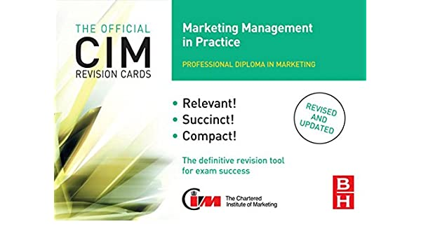 CIM Revision Cards Marketing Management in Practice