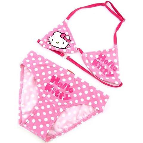 Costume da bagno bambino rosa (2 pezzo). - Taille 10ans - Kitty Lily