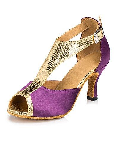 La mode moderne Sandales femmes personnalisables verni semelle en cuir chaussures de danse salsa/latin/moderne /Swing Noir Talon Chaussures de danse latino/Sneakers/tap Almond