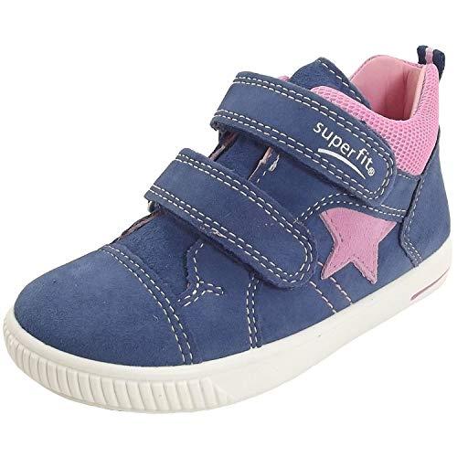 Superfit Baby Mädchen Moppy Sneaker Blau/Rosa 81, 24 EU