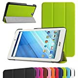 "Acer Iconia One 8 B1-850 Ultra Slim Coque,Mama Mouth Ultra Slim PU Cuir debout Fonction Housse Coque Étui Couverture pour 8"" Acer Iconia One 8 B1-850 Android Tablette,Vert"