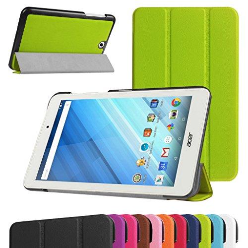 Acer Iconia One 8 B1-850 Schlank hülle,Mama Mouth Ultra Schlank Superleicht Ständer PU Leder Smart Shell hülle mit Standfunktion für 8