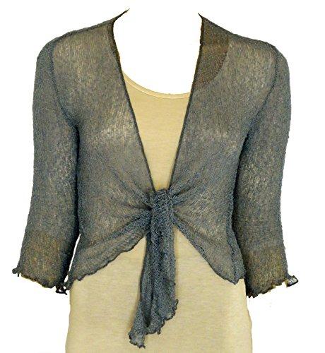 Taboo fashion clothing - Boléro - Femme Taille Unique Gris métal