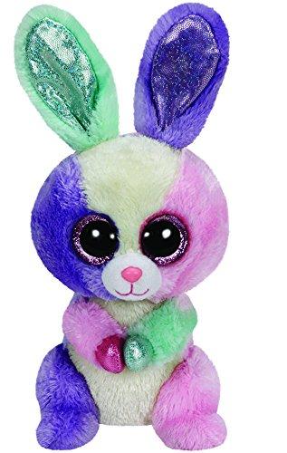 TY 39666 - Bloom Buddy - Hase mit Glitzeraugen und grünen Hufen, Ostern limitiert, Plüschtier, groß, 24 cm, Multicolor (Gefüllte Hase Große)