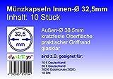 deaL-Toys® 10 Münzkapseln 32,5mm, geeignet für 10 DM, 10 Euro / 20 Euro Deutschland, 200 Euro Goldmünze (2002)